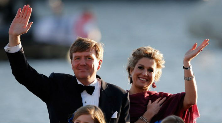 """Guillermo presentó a su reina: """"Ahora es una holandesa más"""""""